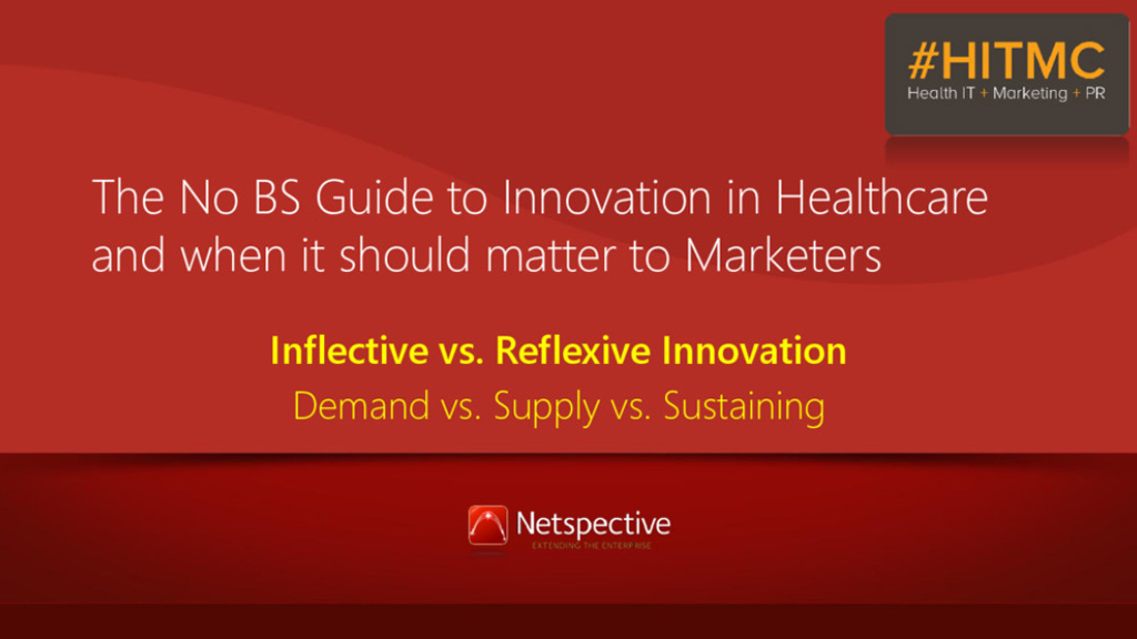 The No BS Guide to Innovation in Healthcare and when it should matter to Marketers